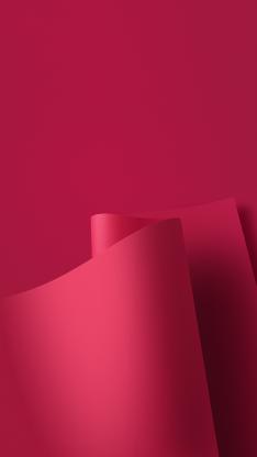 红色 卷曲 纸张 线条
