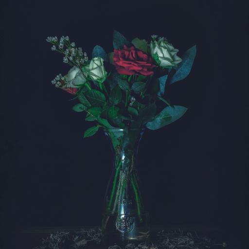 玫瑰 花束 花瓶 枝叶 插花