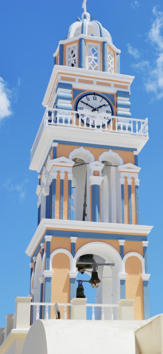 建筑 鐘樓 色彩 唯美 清新