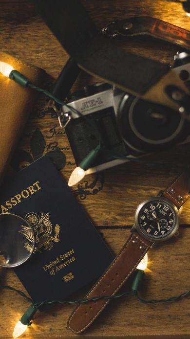 护照 相机 手表 静物