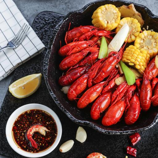 特色美食 小龙虾 玉米