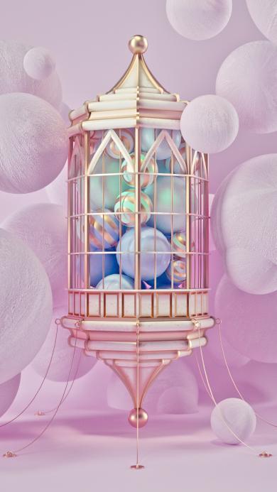 笼子 球 摄影 紫色