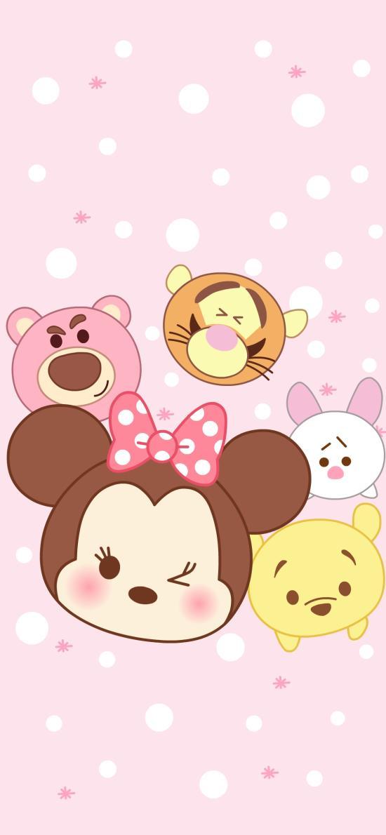 迪士尼 粉色 米妮 卡通 可爱