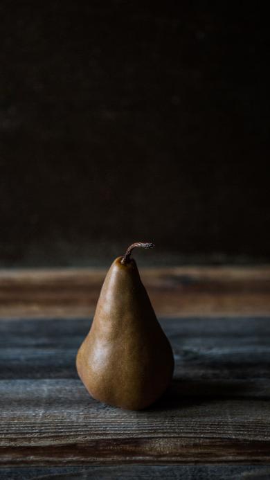 梨 水果 特写  暗