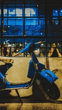 电单车 小绵羊 蓝色 交通工具