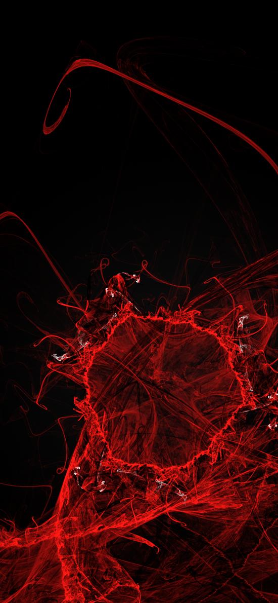 红 抽象 空间 线