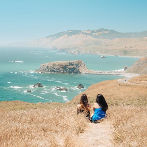 姐妹 闺蜜 背影 海边