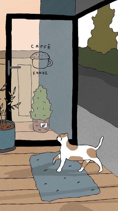 猫咪 插画 喵星人 地毯
