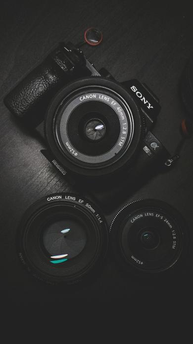 Sony 相机 镜头 摄影 单反 黑