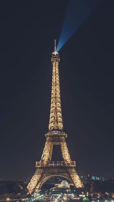 法国 巴黎铁塔 建筑 灯光