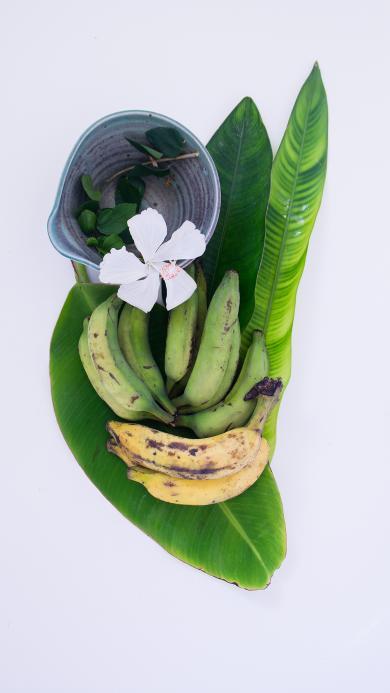 香蕉 芭蕉叶 热带水果 芭蕉
