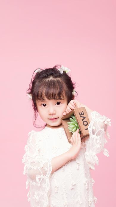 小女孩 可爱 小美女 粉色 儿童