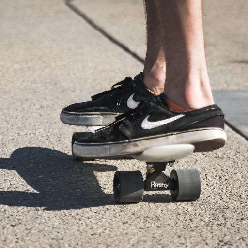 滑板 站立 休闲 阳光