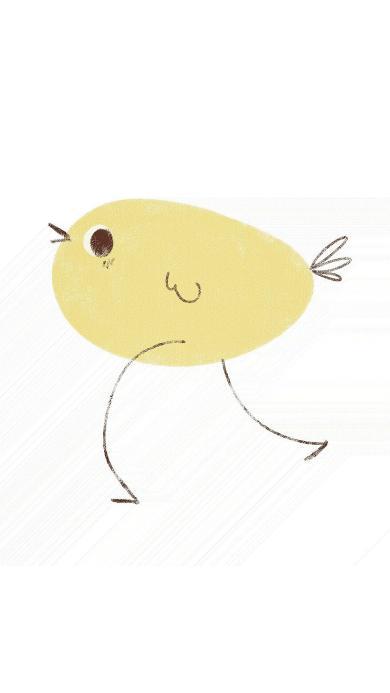 简笔画 小鸡 创意 简约