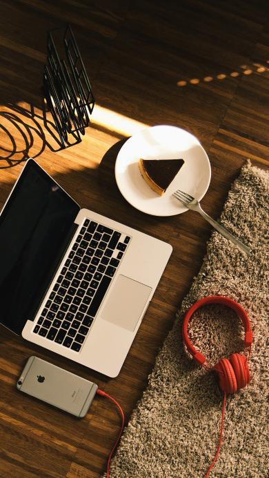 休闲 笔记本 电脑 耳机 地毯