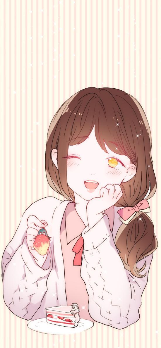 情侣 草莓 爱情 女孩