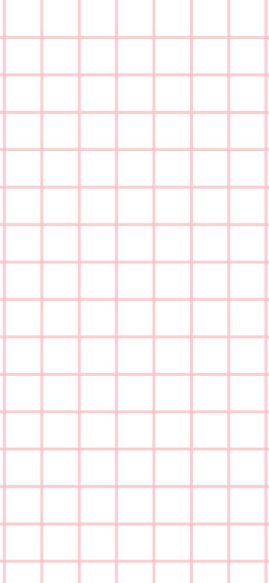 方格 粉 簡約 線條