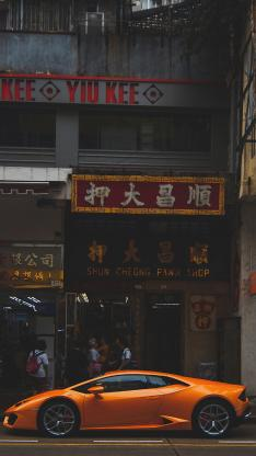 兰博基尼 香港 超级跑车 街道