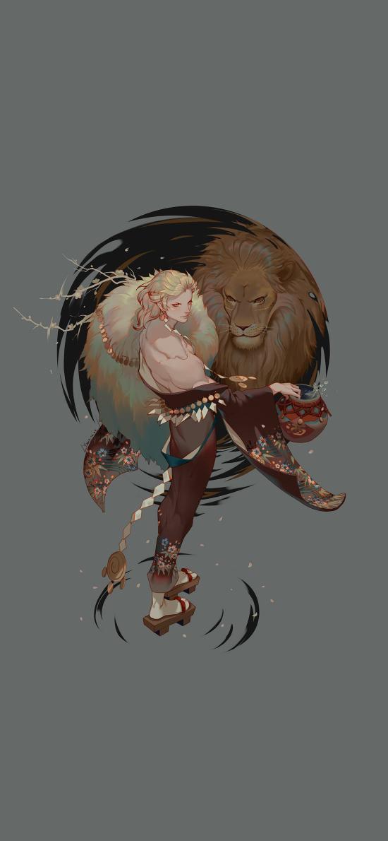 游戲同人 CG插畫 原畫 獅子
