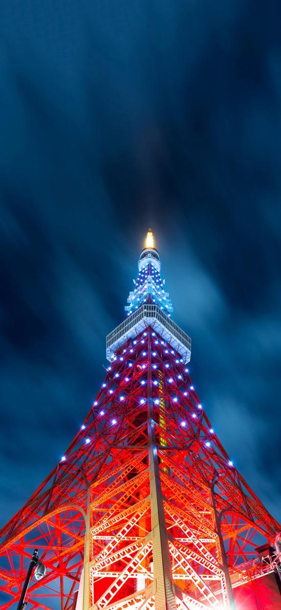 夜晚 灯光 埃菲尔铁塔 建筑 特色