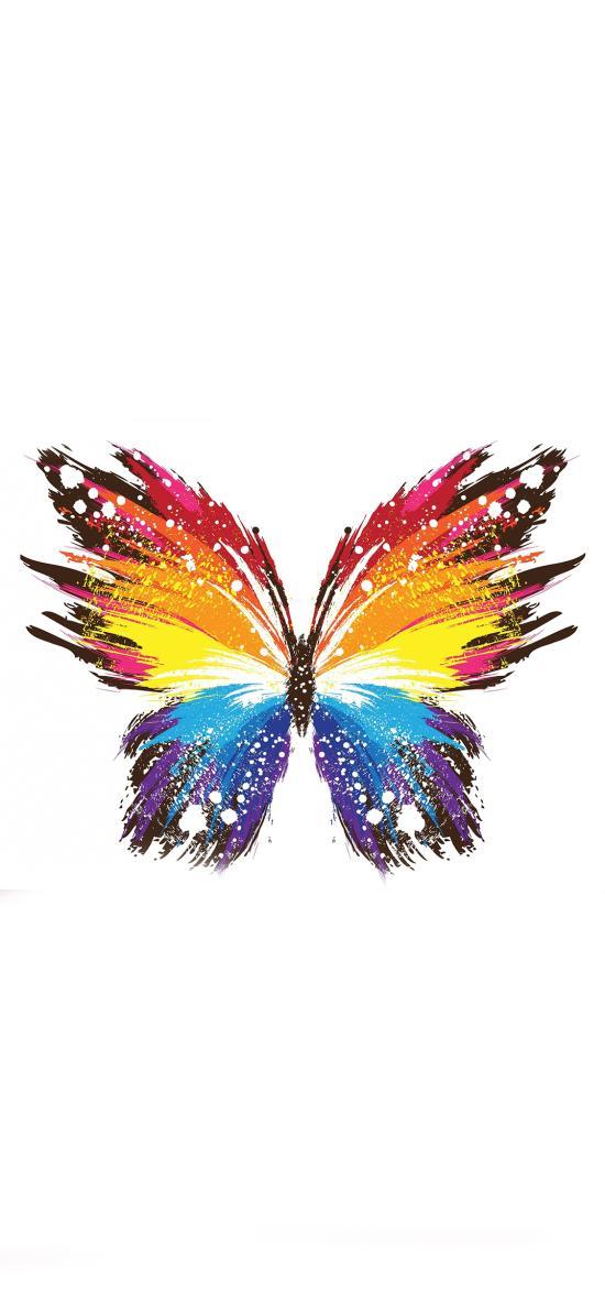 蝴蝶 色彩 创意 唯美 绘画