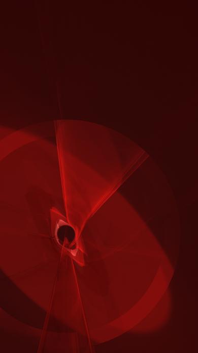 红色 科技 几何 抽象