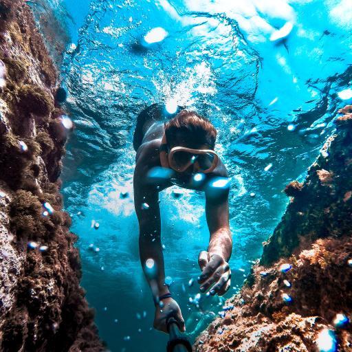 潜水 大海 海底 游泳 气泡