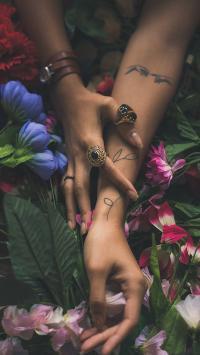 纹身 刺青 戒指 装饰