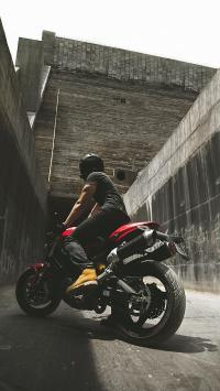 摩托车 帅气 涂鸦 废弃