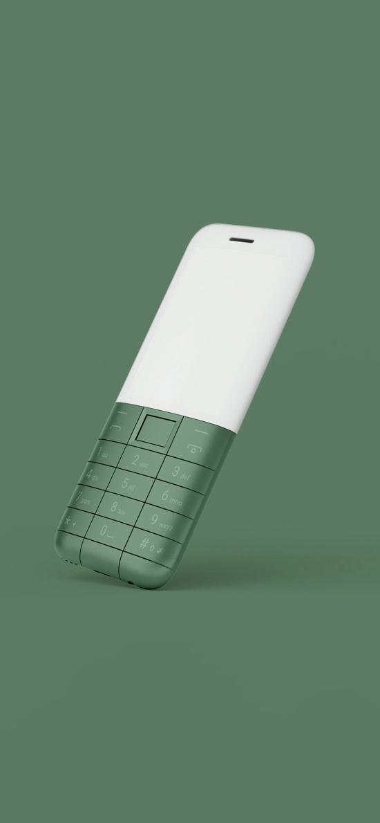 綠色背景 手機 老人機