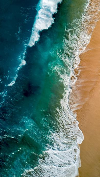 海浪 浪花 沙滩 海水 俯拍