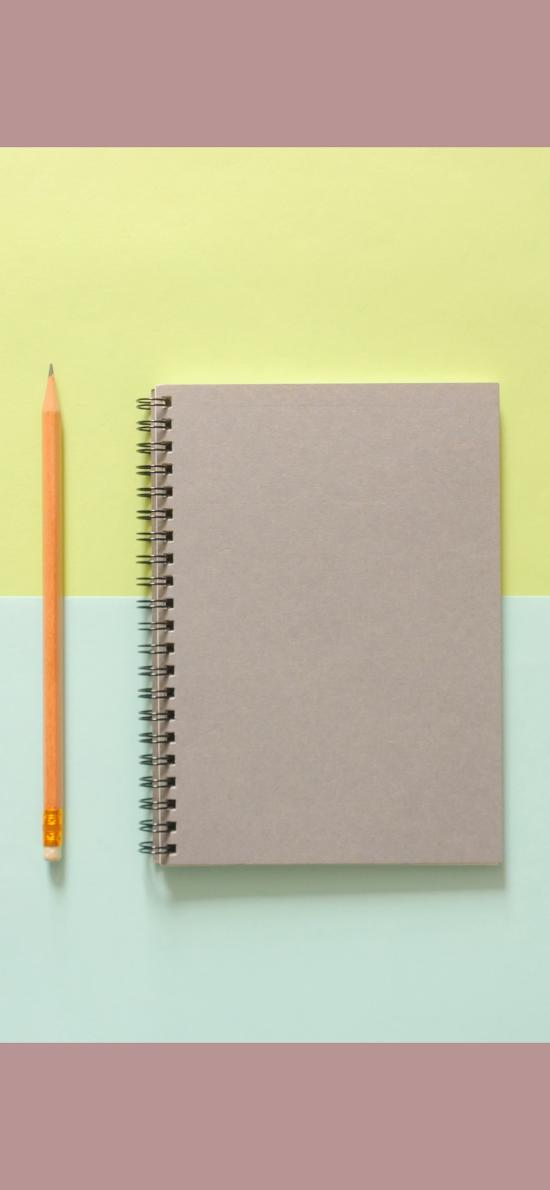 筆記本 鉛筆 文具 色彩