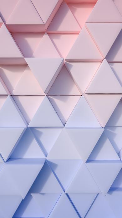 三角 菱形 渐变 粉蓝