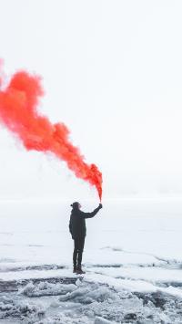 烟雾 雪地 狼烟 荒芜