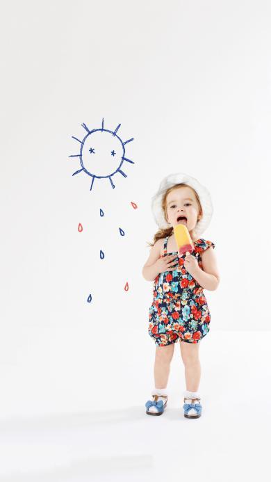 小女孩 欧美 太阳  可爱 儿童