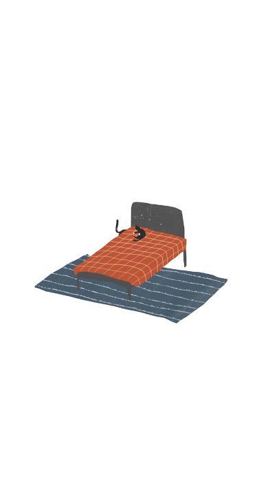 插画 简约 床 创意