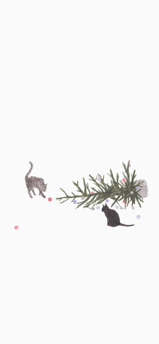 创意 简约 猫咪 绘画