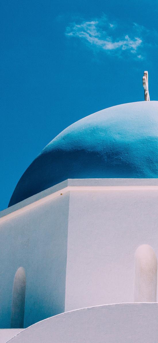 穹頂 教堂 清真寺 藍天 天空