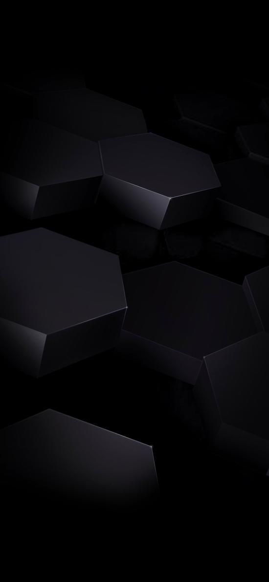 黑暗 立体 空间 六边形