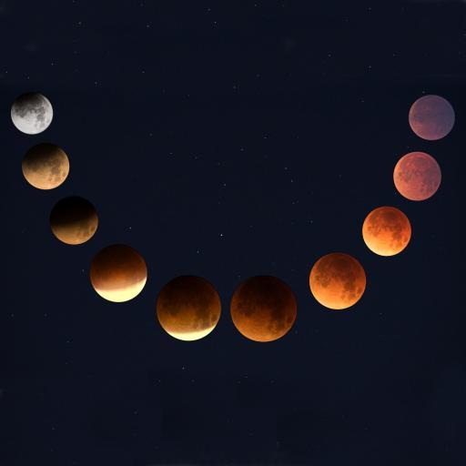 月球 月亮 月食 夜晚