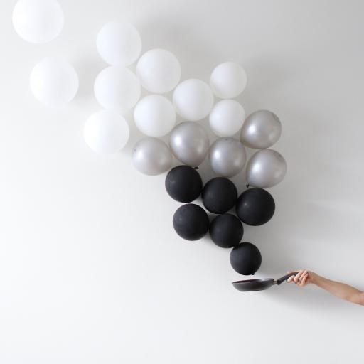 气球 黑白 装饰 节日 庆祝