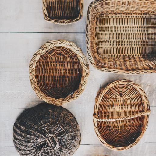编织 竹皮 工艺品 手工制作