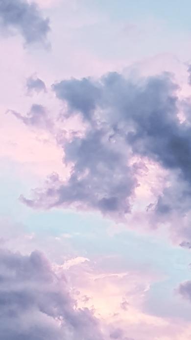 高空 彩霞 云彩 云朵