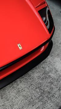 法拉利 跑车 亮红