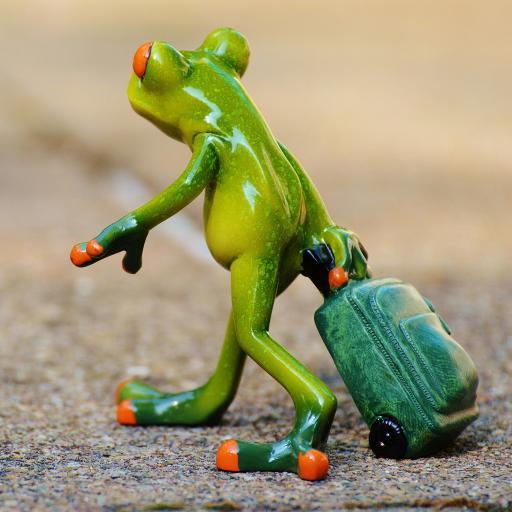 摆件 装饰 青蛙旅行 行李箱