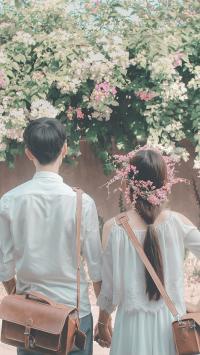 情侣 爱情 背影 浪漫 小清新