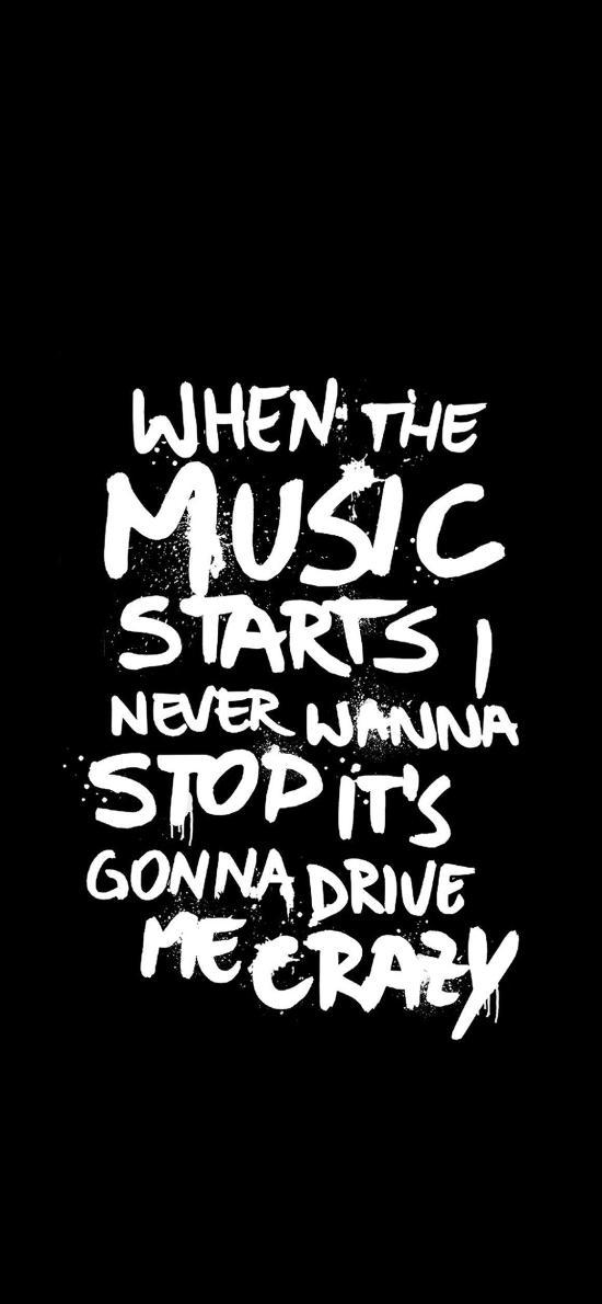 当音乐响起 不能停止 疯狂 黑白 英文
