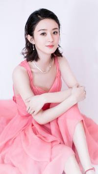 赵丽颖 演员 明星 艺人 粉色