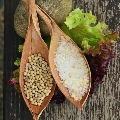 胡椒 盐 颗粒 香料 蔬菜
