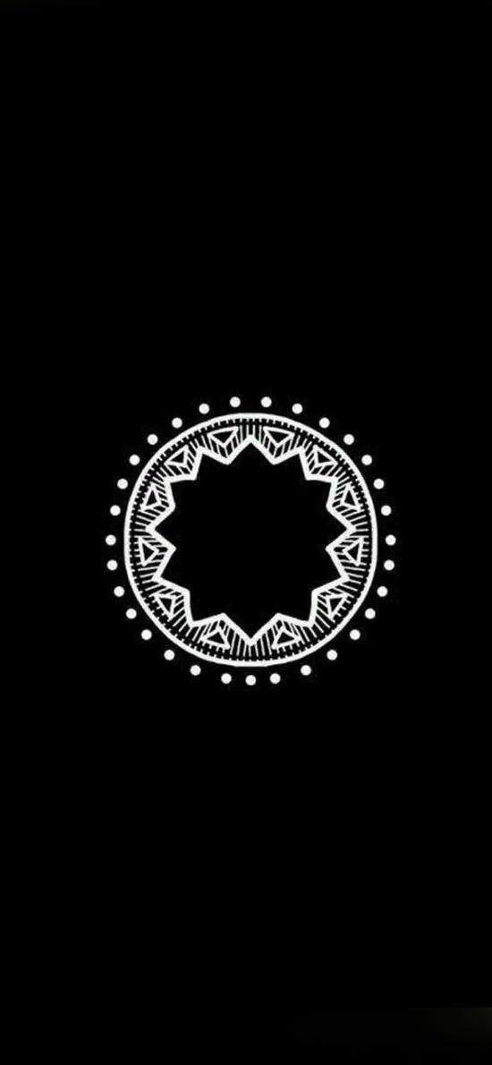 图形 圆 形状 黑白